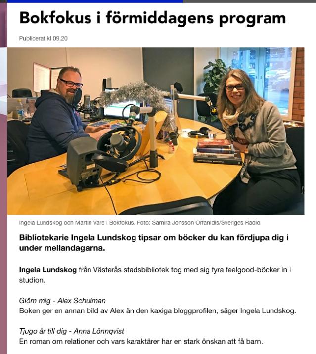Bokprat i Radio P4 Västmanland